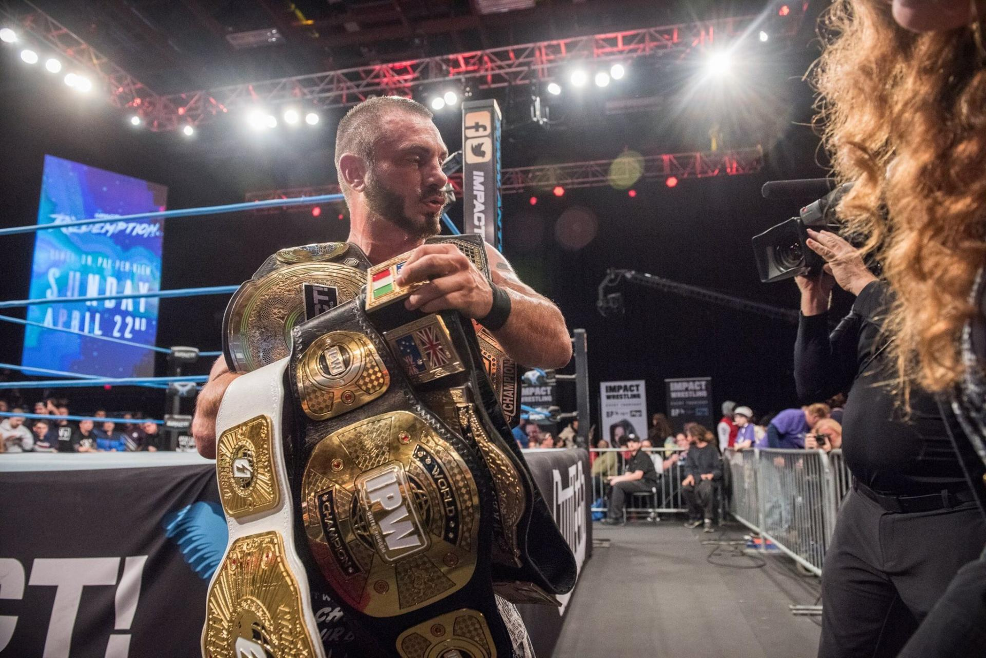 """The Belt Collector"", starring Impact Wrestling, Defiant Wrestling, IPW:UK et WSW"