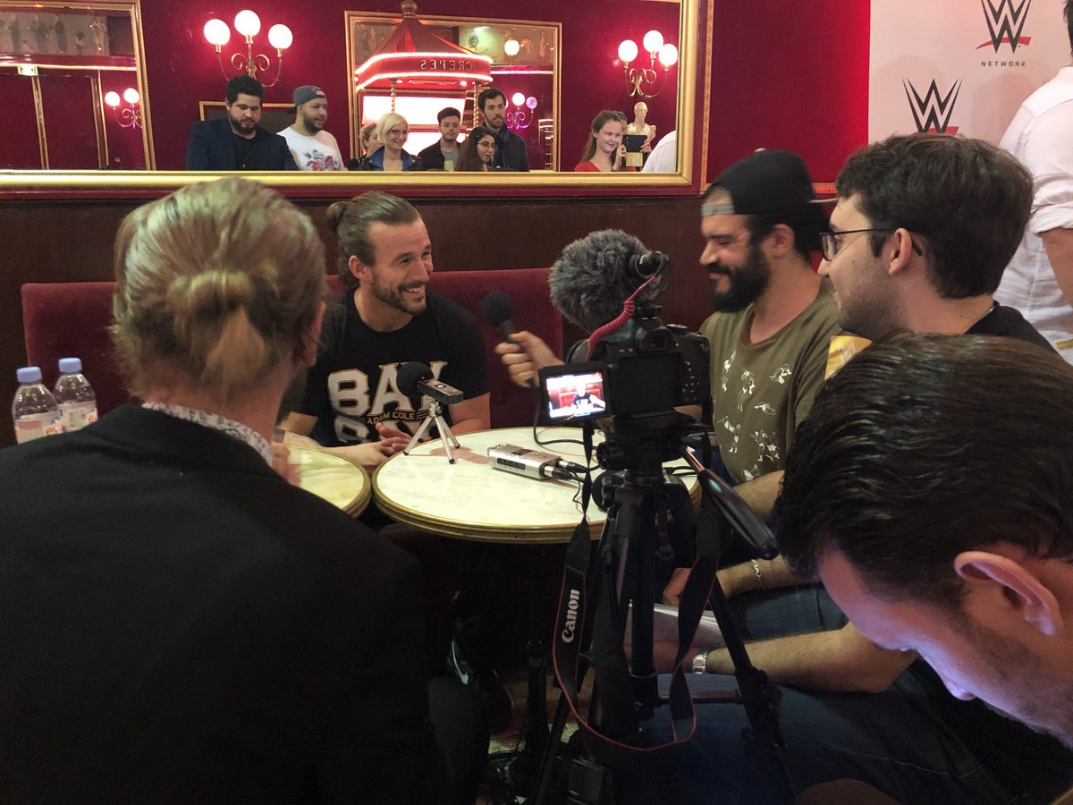 Interview adam cole nxt paris