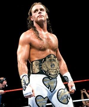 Shawn michaels wearing belt in ring